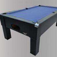 Geordiepool Black Square Leg Pool Table with Hainsworth Smart Slate Cloth
