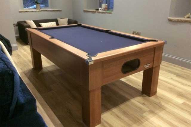 Walnut Square Leg Pool Table