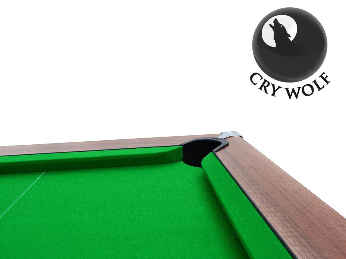 Cry Wolf Slate Bed Pool Table Dark Walnut Custom Snooker
